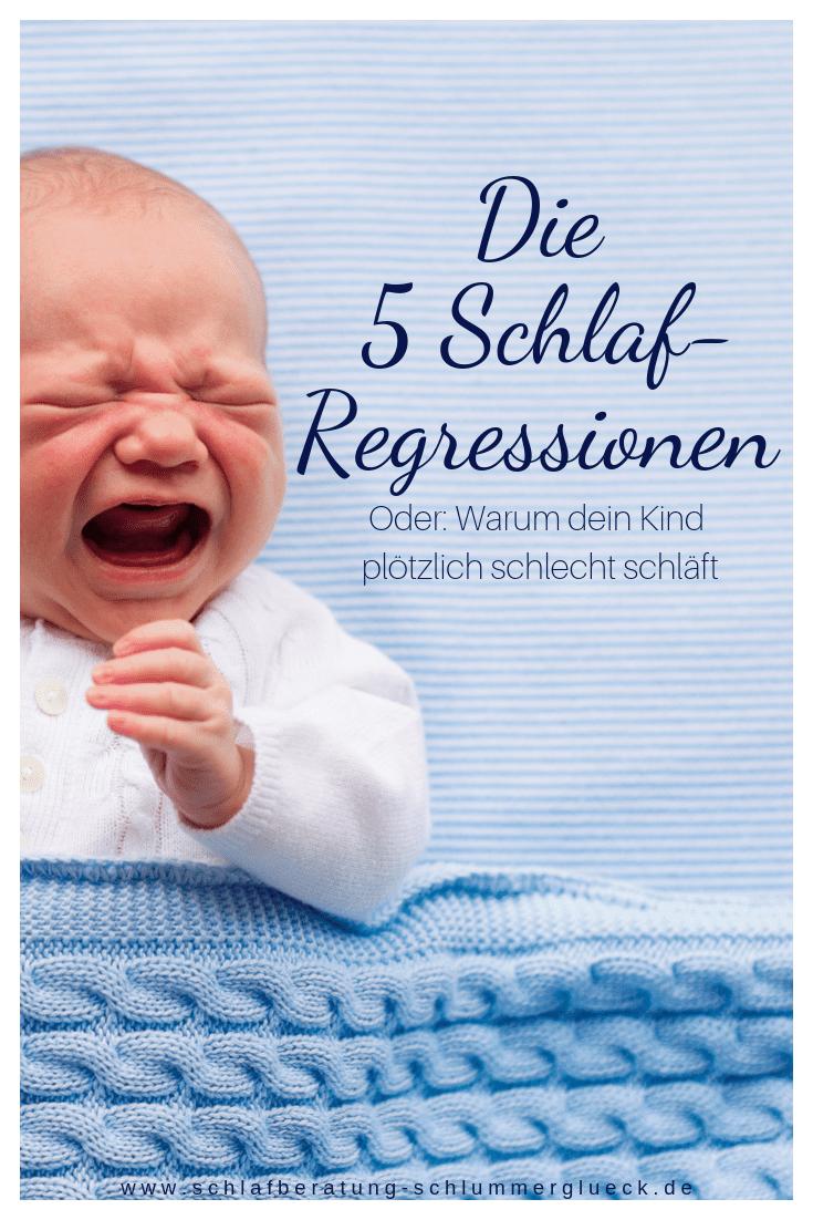 Die 5 Schlaf-Regressionen oder warum dein Kind plötzlich schlecht schläft